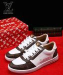 bas prix shoes louis vuitton blanc supreme
